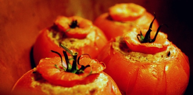 On average, this configuration of stuffed tomatoes is to be adopted by those roasting at 375 degrees.