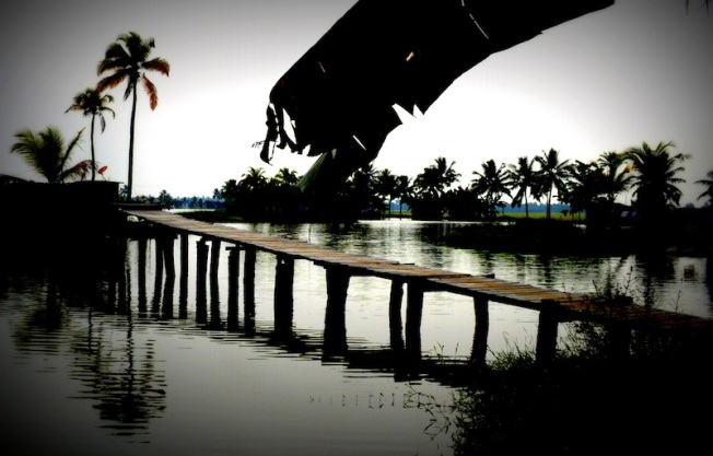 Employees coming in on Saturdays will be asked to enter via the footbridge. (Clicked this in Kerala, 2012).