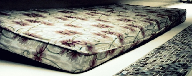 This mattress later found its way into the dumpster, and may have saved grandma's life.