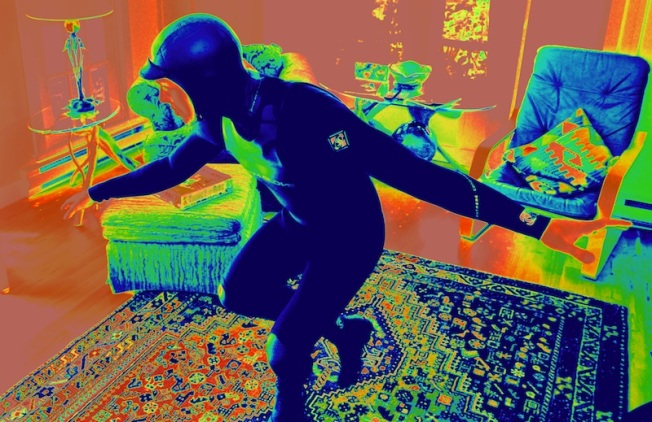 Generally ninjas can only be seen by infrared.